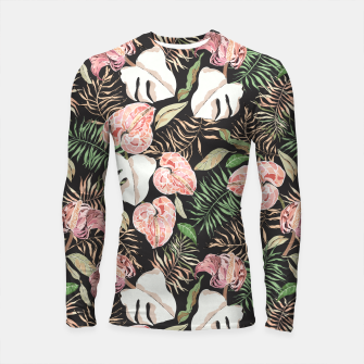 Thumbnail image of Wild bloom jungle dark Longsleeve rashguard, Live Heroes