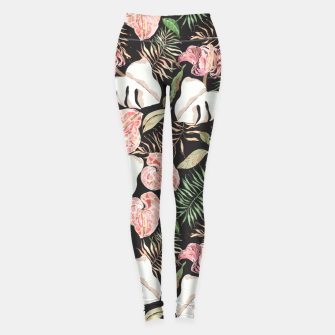 Miniatur Wild bloom jungle dark Leggings, Live Heroes