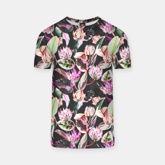 Miniatur Dark colorful bohemian bloom Camiseta, Live Heroes