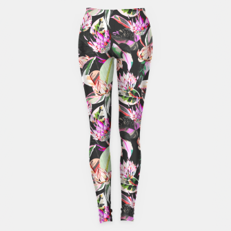 Miniatur Dark colorful bohemian bloom Leggings, Live Heroes