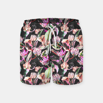 Thumbnail image of Dark colorful bohemian bloom Pantalones de baño, Live Heroes