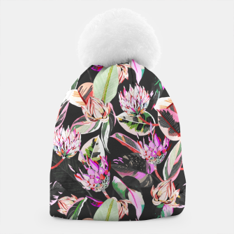 Miniatur Dark colorful bohemian bloom Gorro, Live Heroes