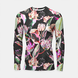 Thumbnail image of Dark colorful bohemian bloom Longsleeve rashguard, Live Heroes