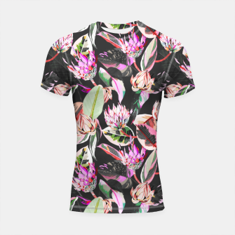 Thumbnail image of Dark colorful bohemian bloom Shortsleeve rashguard, Live Heroes