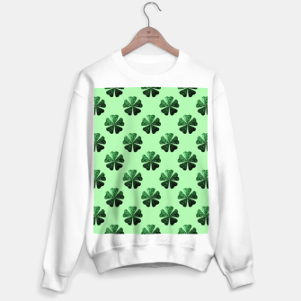 Thumbnail image of Dark Green glitter sparkles Shamrock Clover pattern Sweater regular, Live Heroes