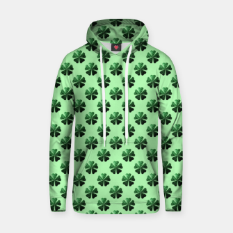 Thumbnail image of Dark Green glitter sparkles Shamrock Clover pattern Hoodie, Live Heroes