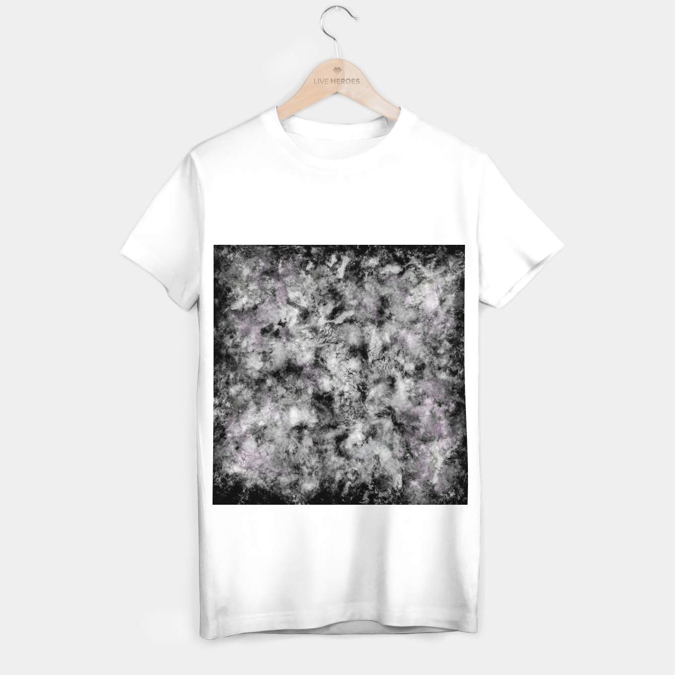 Image of Stone grey angel T-shirt regular - Live Heroes