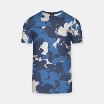 Thumbnail image of Retro Wash Blue and Grey Paint Splatter Unisex T-Shirt, Live Heroes
