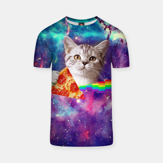 Thumbnail image of Galaxy Pizza Cat Unisex T-Shirt, Live Heroes