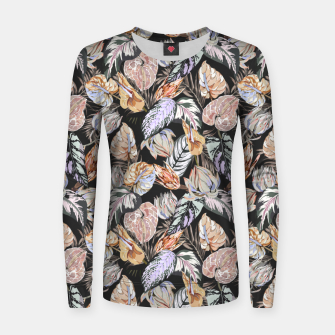 Thumbnail image of Dark colorful bohemian bloom 2 Sudadera para mujeres, Live Heroes