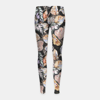 Miniatur Dark colorful bohemian bloom 2 Leggings para niña, Live Heroes