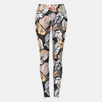 Miniatur Dark colorful bohemian bloom 2 Leggings, Live Heroes