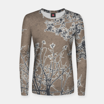 Miniature de image de Linear Textured Botanical Motif Design Women sweater, Live Heroes