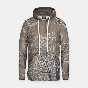 Thumbnail image of Linear Textured Botanical Motif Design Hoodie, Live Heroes