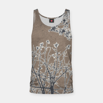 Miniature de image de Linear Textured Botanical Motif Design Tank Top, Live Heroes