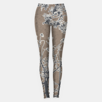 Thumbnail image of Linear Textured Botanical Motif Design Leggings, Live Heroes