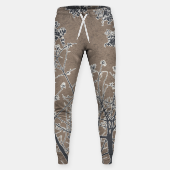 Thumbnail image of Linear Textured Botanical Motif Design Sweatpants, Live Heroes