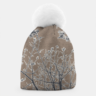 Thumbnail image of Linear Textured Botanical Motif Design Beanie, Live Heroes