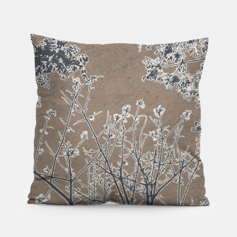 Thumbnail image of Linear Textured Botanical Motif Design Pillow, Live Heroes