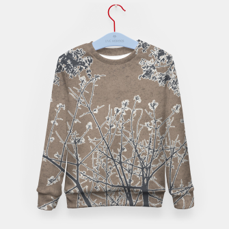 Miniature de image de Linear Textured Botanical Motif Design Kid's sweater, Live Heroes