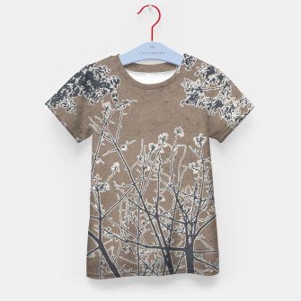 Miniature de image de Linear Textured Botanical Motif Design Kid's t-shirt, Live Heroes