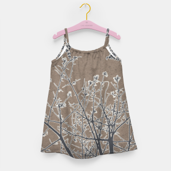 Thumbnail image of Linear Textured Botanical Motif Design Girl's dress, Live Heroes