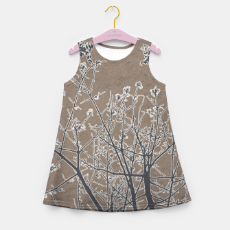 Miniature de image de Linear Textured Botanical Motif Design Girl's summer dress, Live Heroes