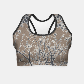 Miniature de image de Linear Textured Botanical Motif Design Crop Top, Live Heroes