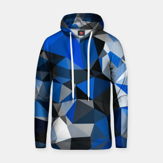 Miniatur Blue Geometric Abstract Unisex Pullover Hoodie, Live Heroes