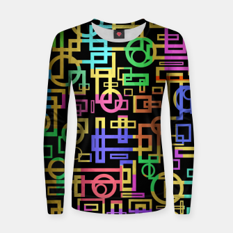 Thumbnail image of Abstract Geometric Layers Women sweater, Live Heroes