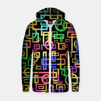 Miniatur Abstract Geometric Layers Zip up hoodie, Live Heroes