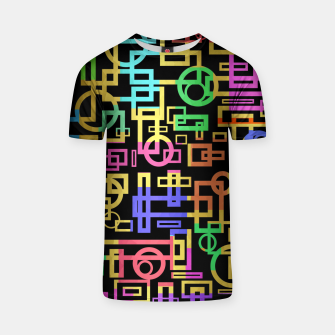 Miniatur Abstract Geometric Layers T-shirt, Live Heroes