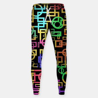 Miniatur Abstract Geometric Layers Sweatpants, Live Heroes
