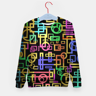 Miniatur Abstract Geometric Layers Kid's sweater, Live Heroes