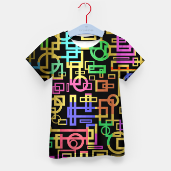 Miniatur Abstract Geometric Layers Kid's t-shirt, Live Heroes