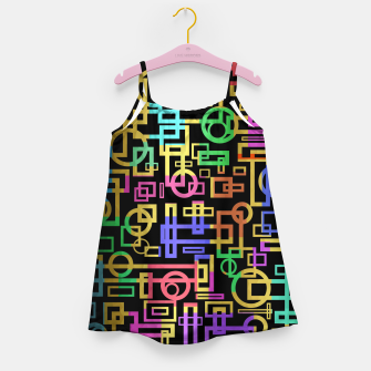 Miniatur Abstract Geometric Layers Girl's dress, Live Heroes