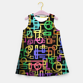 Miniatur Abstract Geometric Layers Girl's summer dress, Live Heroes