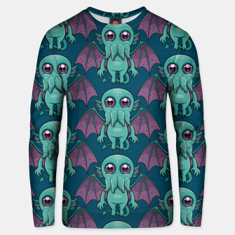 Miniatur Cute Baby Cthulhu Monster Pattern Unisex sweater, Live Heroes