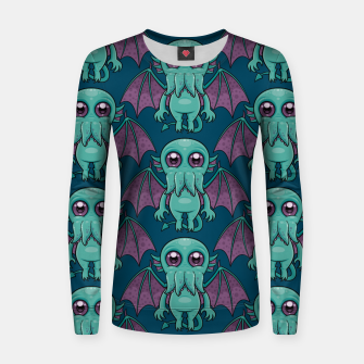 Miniatur Cute Baby Cthulhu Monster Pattern Women sweater, Live Heroes