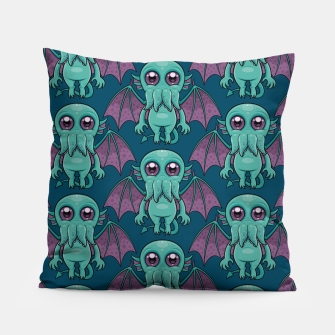 Miniatur Cute Baby Cthulhu Monster Pattern Pillow, Live Heroes