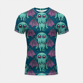 Thumbnail image of Cute Baby Cthulhu Monster Pattern Shortsleeve rashguard, Live Heroes