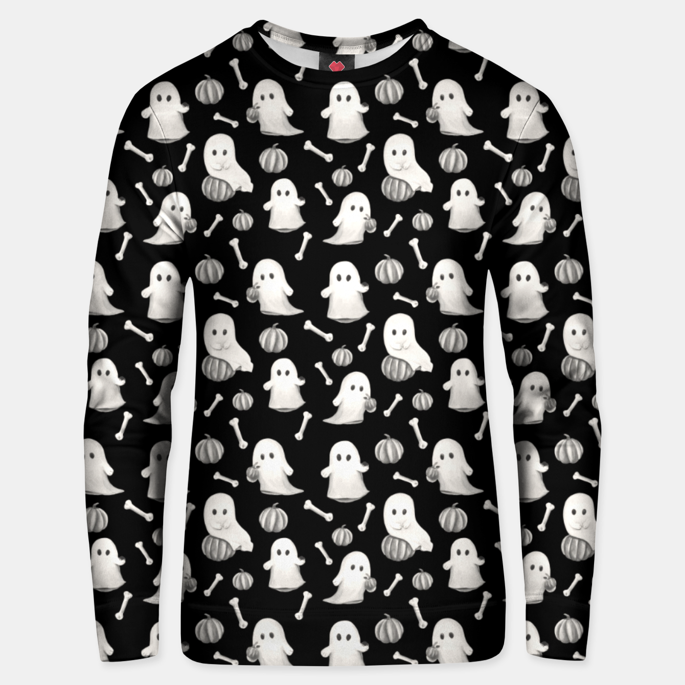 Foto HALLOWEEN GHOST PARTY B&W Unisex sweater - Live Heroes