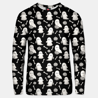 HALLOWEEN GHOST PARTY B&W Unisex sweater Bild der Miniatur