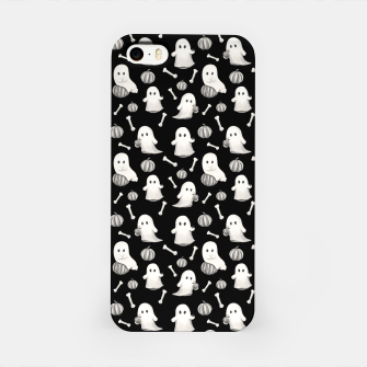 HALLOWEEN GHOST PARTY B&W iPhone Case Bild der Miniatur