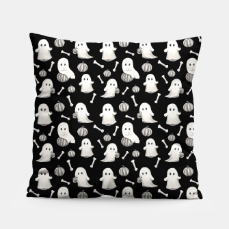 Thumbnail image of HALLOWEEN GHOST PARTY B&W Pillow, Live Heroes