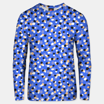 Thumbnail image of Funky pebbles in blue Unisex sweater, Live Heroes