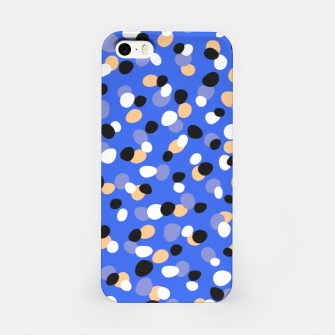Thumbnail image of Funky pebbles in blue iPhone Case, Live Heroes