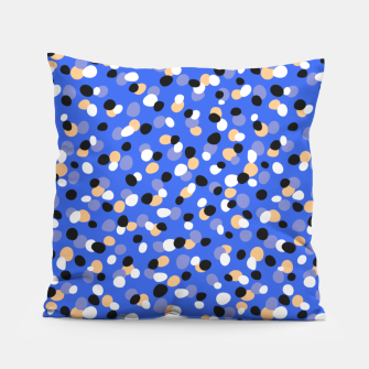Thumbnail image of Funky pebbles in blue Pillow, Live Heroes