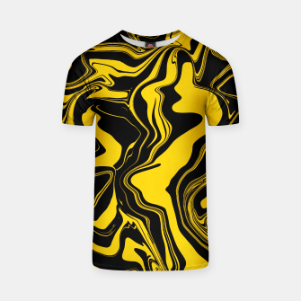 Miniature de image de Black and Yellow Abstract Melt Unisex T-Shirt, Live Heroes