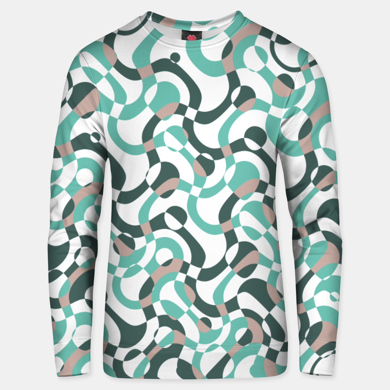 Image of Funny bubbles print, scandinavian pattern, abstract design Unisex sweater - Live Heroes